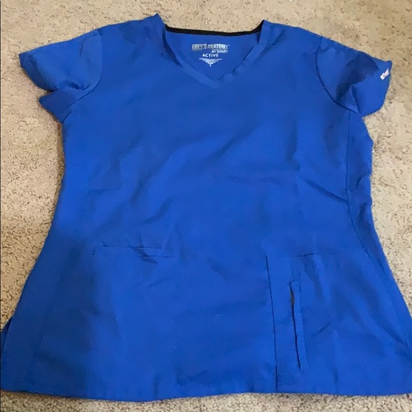 Greys anatomy scrub top blue